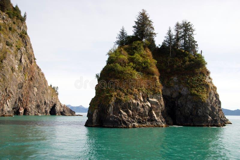 Rocky Buttes Kenai Fjords North Stilla havet Alaska arkivbilder