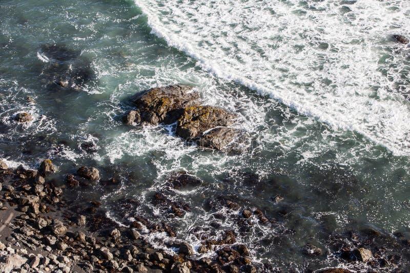Rocky California Shoreline fotos de stock royalty free