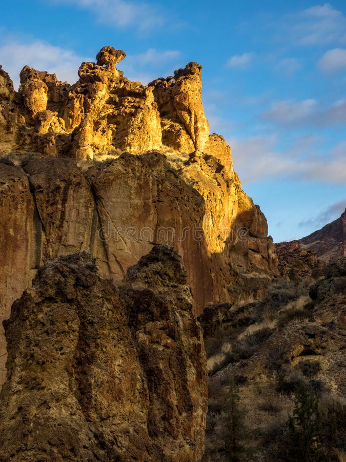Rocky canyon cliffs stock images