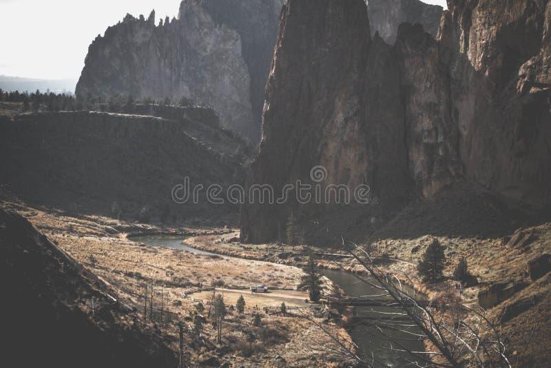 Rocky canyon stock image