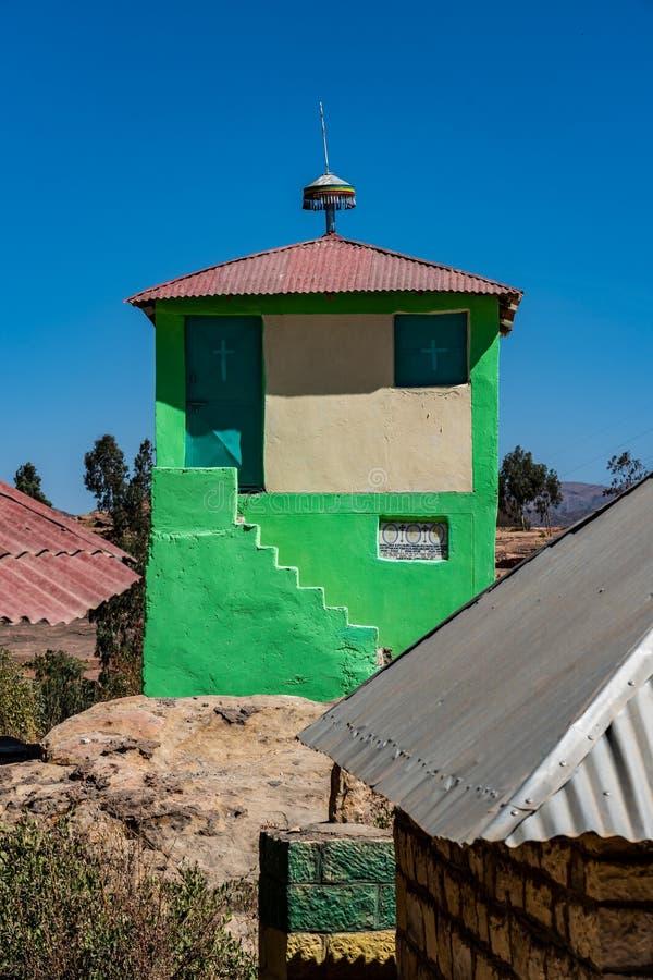 The rocky church of Wukro Cherkos in Ethiopia stock photo