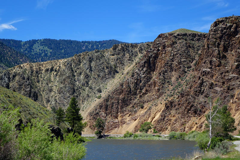Rocky Cliffs - North Fork, Idaho fotografie stock libere da diritti