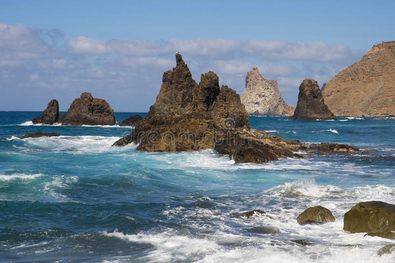 Download Rocky coast stock image. Image of volcanic, landmark - 27057063