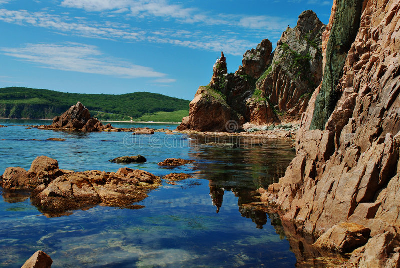 Download Rocky coast stock photo. Image of kelp, algae, japan, coast - 4547606