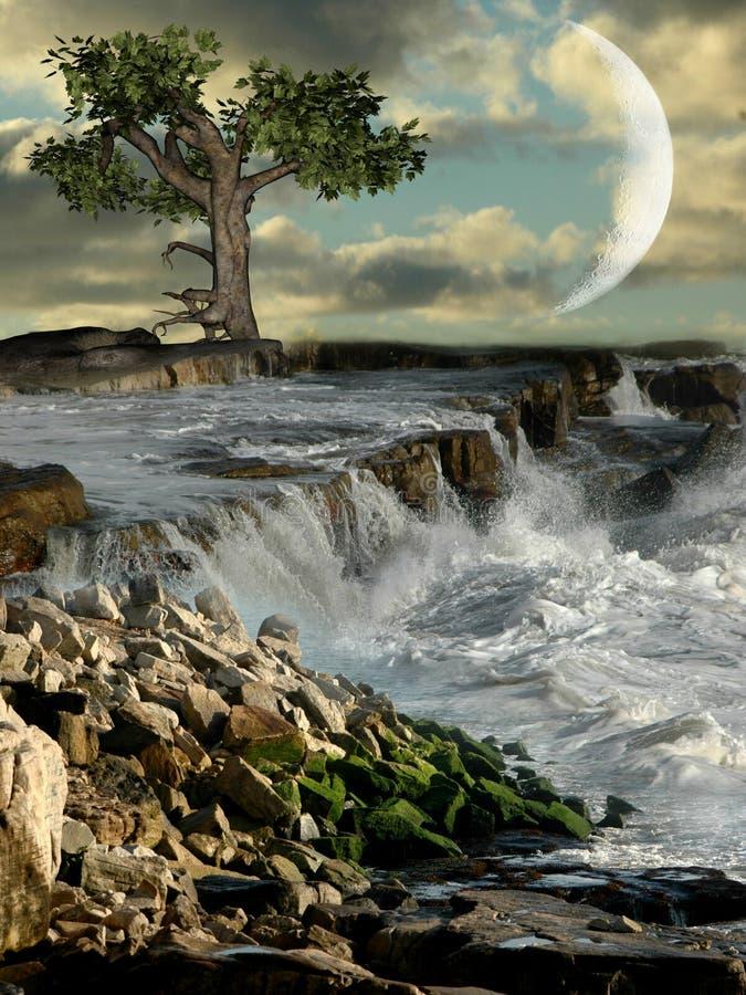 Download Rocky coast stock illustration. Image of fairy, fantastic - 8945301