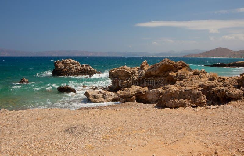 Download Rocky coast in Crete stock photo. Image of crete, water - 21626560