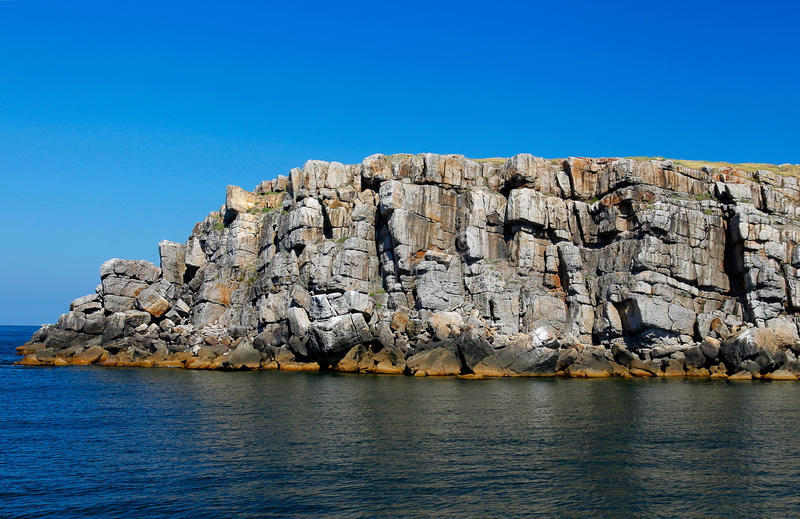 The Rocky Coast Of The Island Of Serpentson Royalty Free Stock Photo