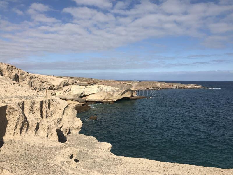 Rocky coast. Of San Miguel de Tajao in Tenerife stock image