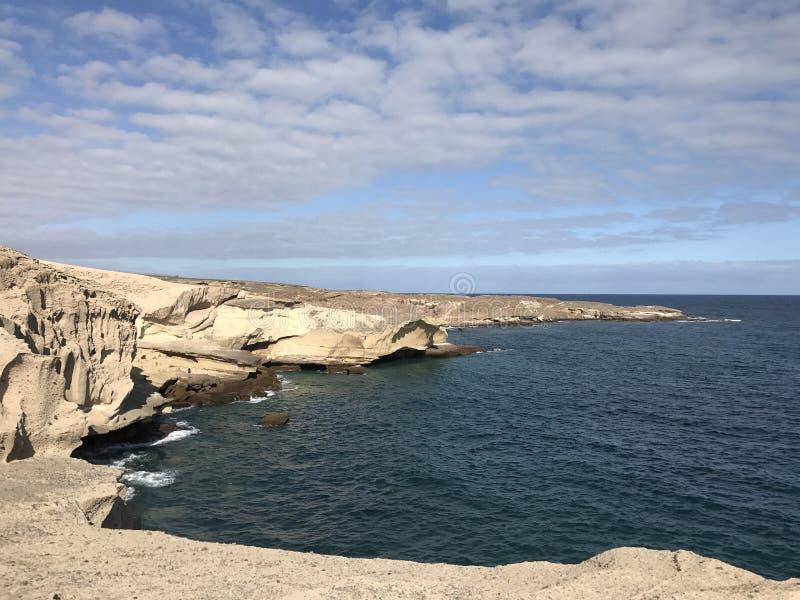 Rocky coast. Of San Miguel de Tajao in Tenerife stock photo