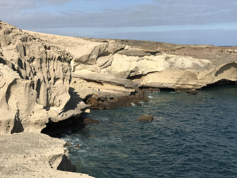 Rocky coast. Of San Miguel de Tajao in Tenerife royalty free stock photography