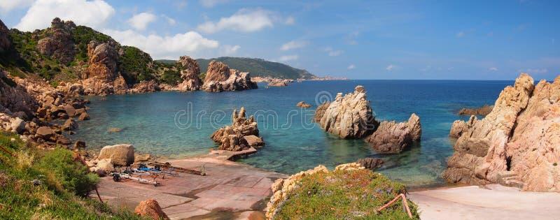 The rocky coast of Sardinia royalty free stock photography