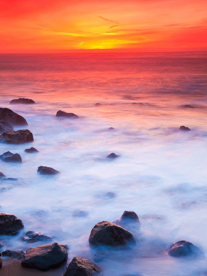 Rocky Coast Sunset Royalty Free Stock Image