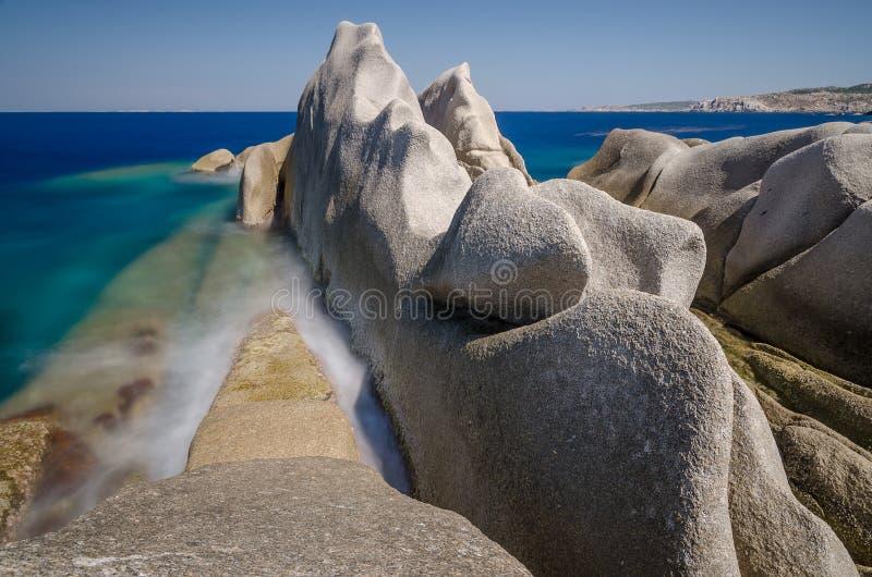 Rocky coast, Testa cape, Sardinia stock photo