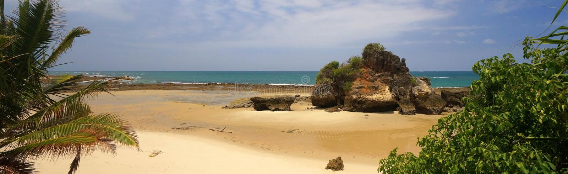 Indian Ocean Beach in Tanzania stock images