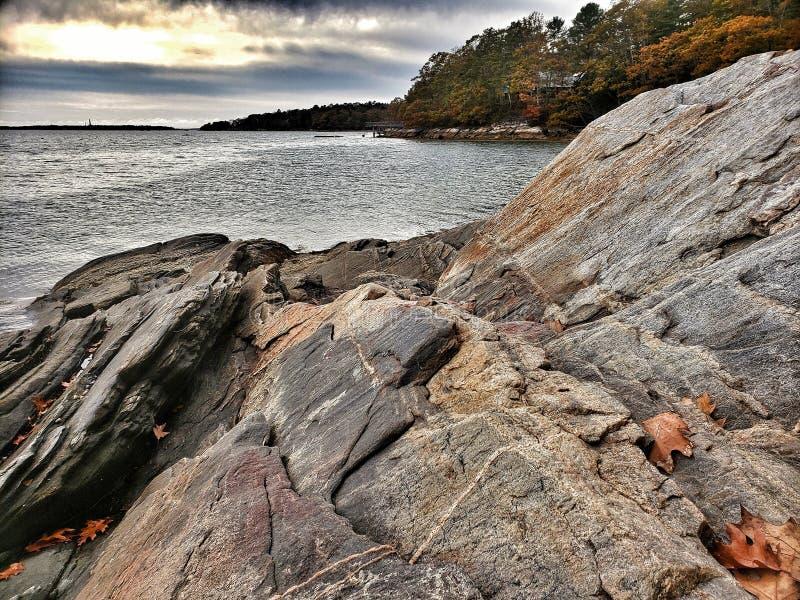 Rocky Coastline w Maine zdjęcie royalty free