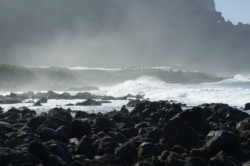 Rocky Costadel Buenavista-strand, Tenerife, Kanarie, Spanje royalty-vrije stock foto
