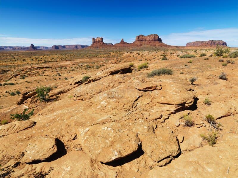 Rocky desert landscape. royalty free stock photos