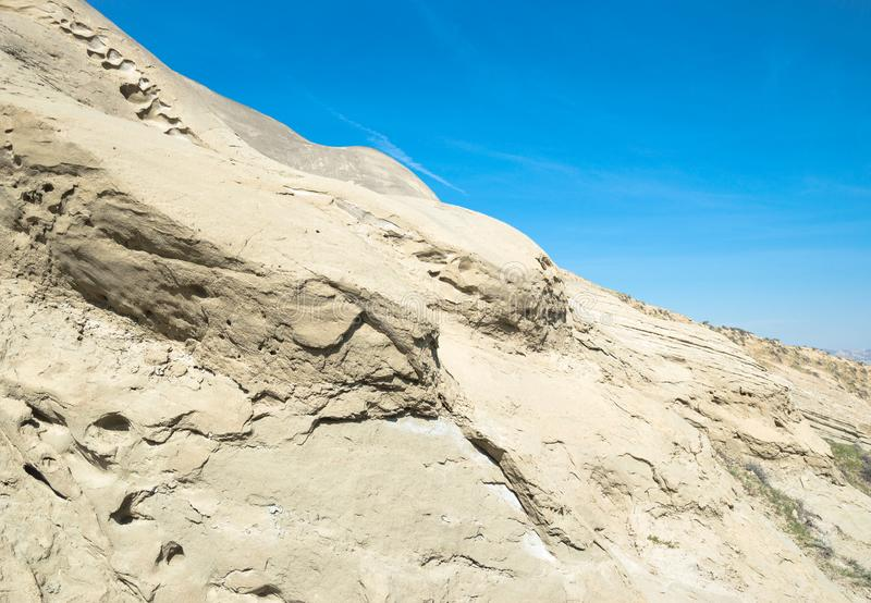 Rocky formation of sand and clay royalty free stock photography