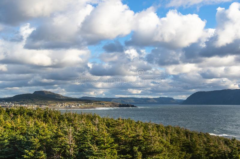 Rocky Harbour Lighthouse Trail photo stock