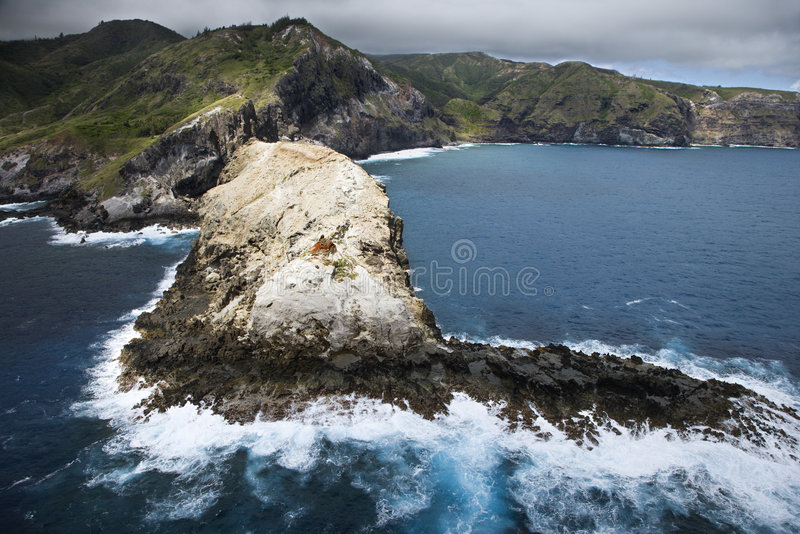Download Rocky Hawaiian coast. stock image. Image of formation - 3467915