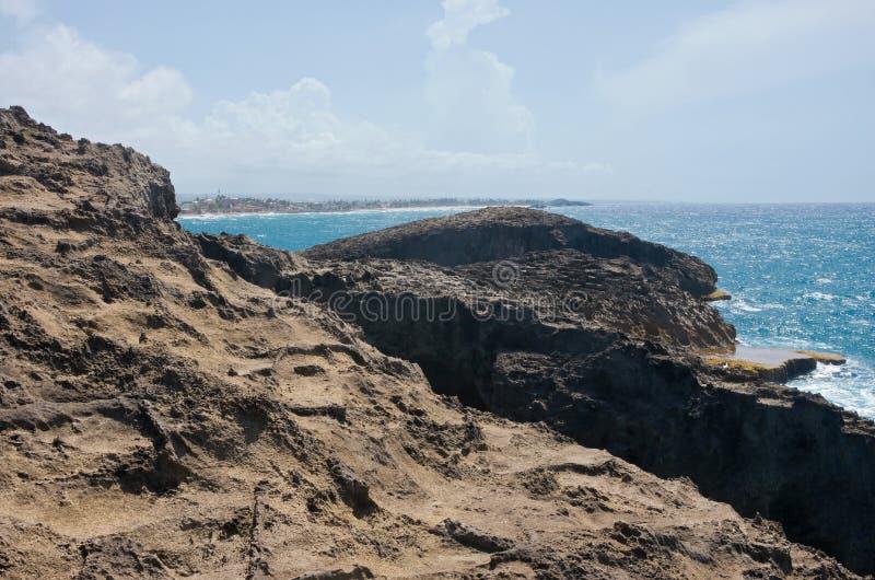 Rocky Headland de Punta Las Tunas imagen de archivo