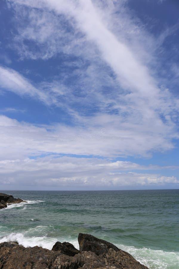 Rocky Headland en NSW septentrional, Australia foto de archivo libre de regalías