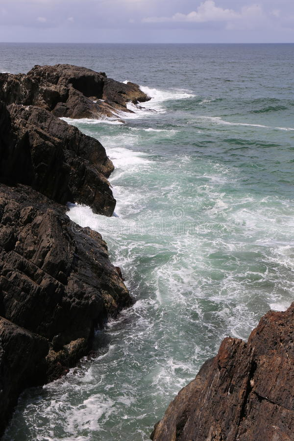 Rocky Headland en NSW septentrional, Australia imagen de archivo libre de regalías
