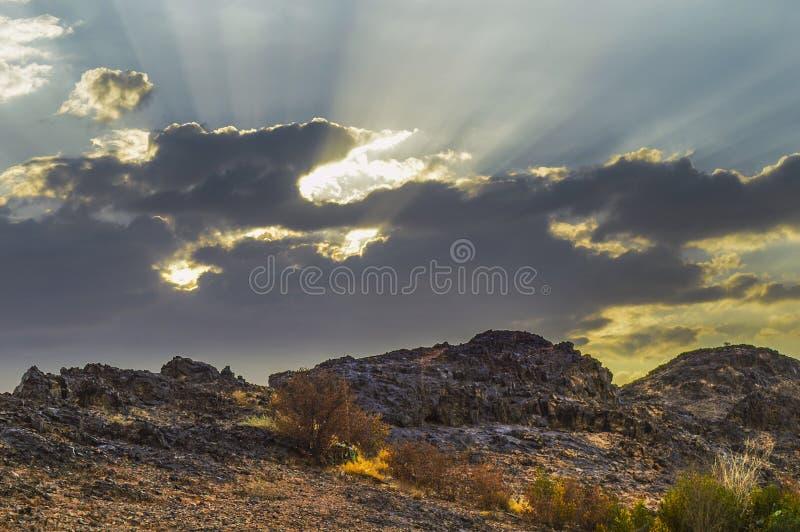 Rocky hill in Haiil, Saudi-Arabië royalty-vrije stock afbeelding
