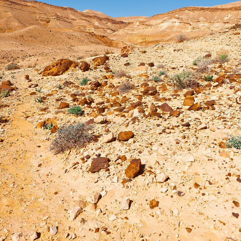 Rocky Hills. Of the Negev Desert in Israel stock photography