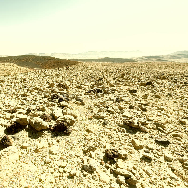 Rocky Hills. Of the Negev Desert in Israel stock images