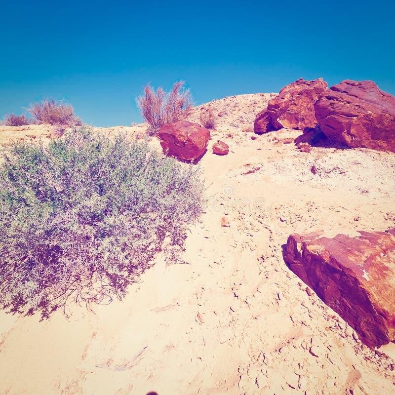 Rocky Hills. Of the Negev Desert in Israel, Instagram Effect stock photos