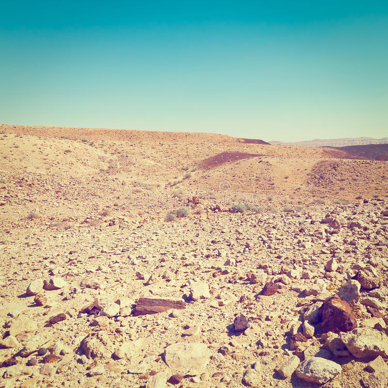 Rocky Hills. Of the Negev Desert in Israel, Instagram Effect royalty free stock images
