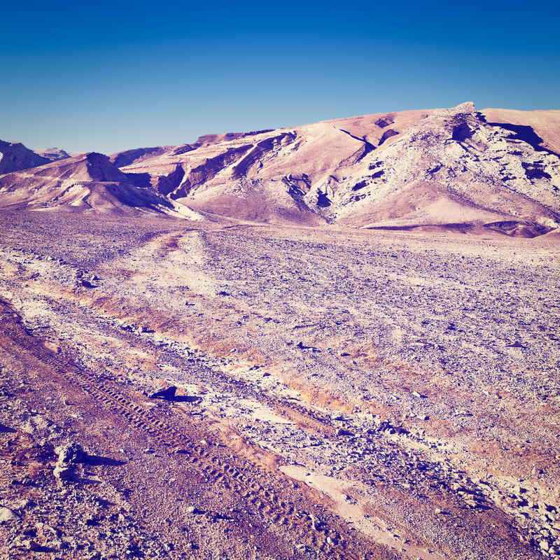 Rocky Hills. Of the Negev Desert in Israel, Instagram Effect stock photos