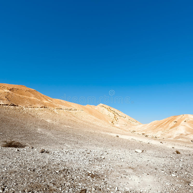 Rocky Hills. Of the Negev Desert in Israel, Toned Picture royalty free stock image