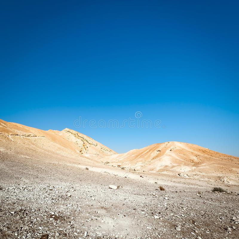 Rocky Hills. Of the Negev Desert in Israel, Toned Picture royalty free stock photo