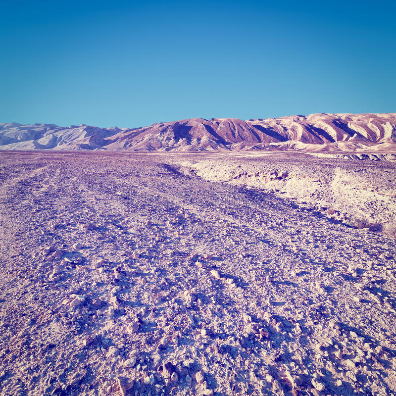 Rocky Hills. Of the Negev Desert in Israel, Instagram Effect stock photography