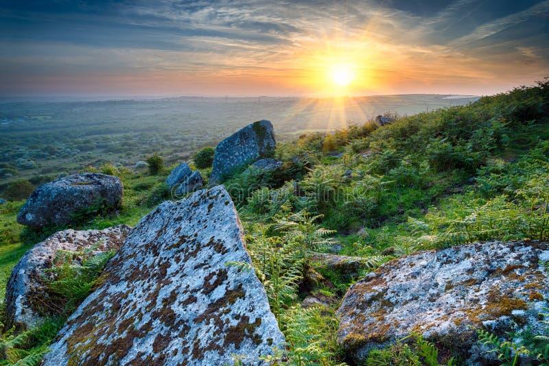 Download Rocky Hillside stock image. Image of rocks, rural, dusk - 42171771