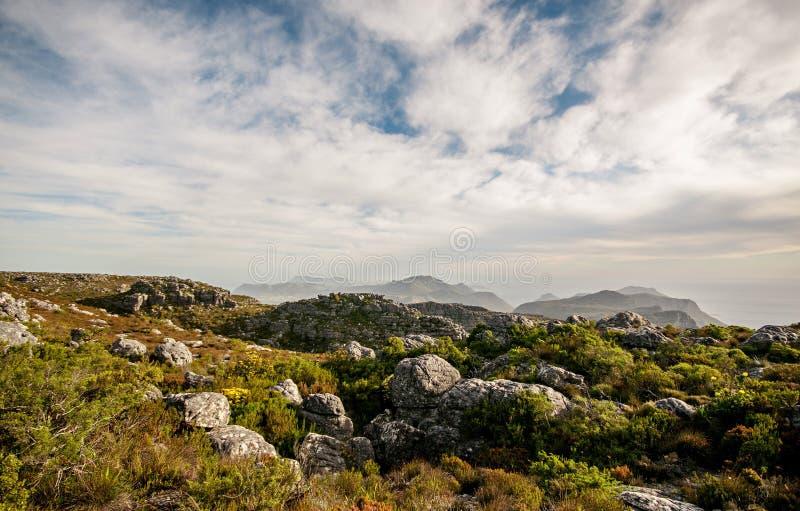 Rocky hillside on sunny day royalty free stock photography