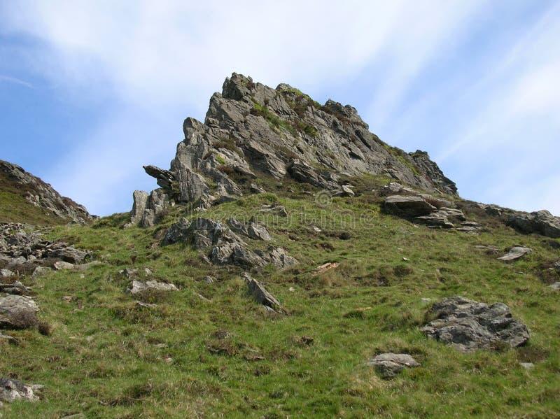 Rocky Hilltop en el valle de Glenshee, montañas de Grampian, Escocia fotos de archivo libres de regalías