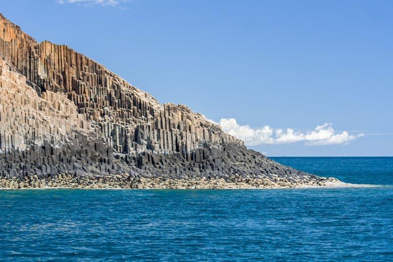 Rocky island. Of Tsarabanjina near Nosy Be in northern Madagascar stock photography