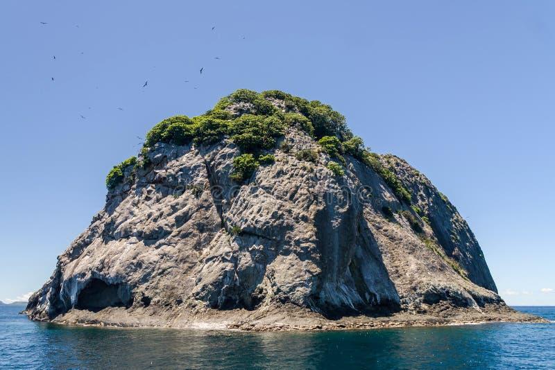 Rocky island. Of the Mitsio archipelago near Nosy Be in northern Madagascar royalty free stock photos