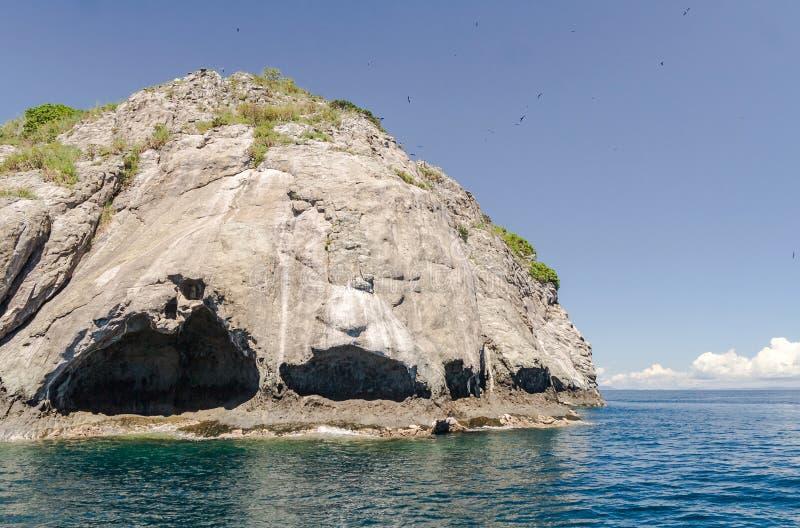 Rocky island. Of the Mitsio archipelago near Nosy Be in northern Madagascar stock photo