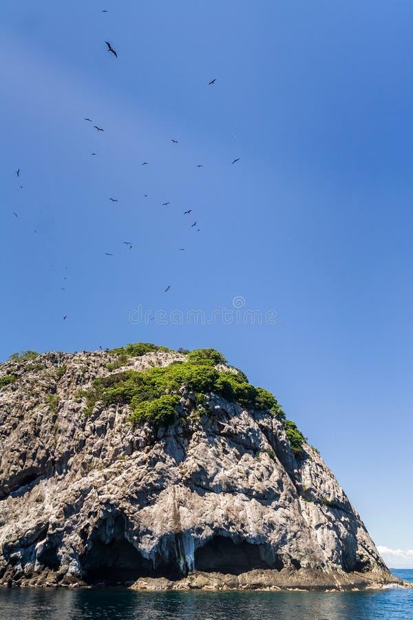 Rocky island. Of the Mitsio archipelago near Nosy Be in northern Madagascar royalty free stock photo