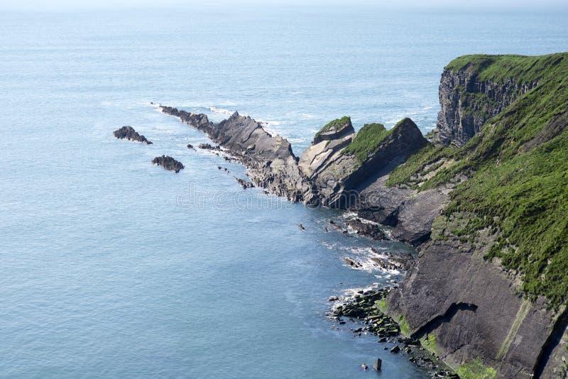 Rocky jagged coastline stock image