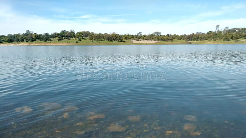 Rocky lake stock image