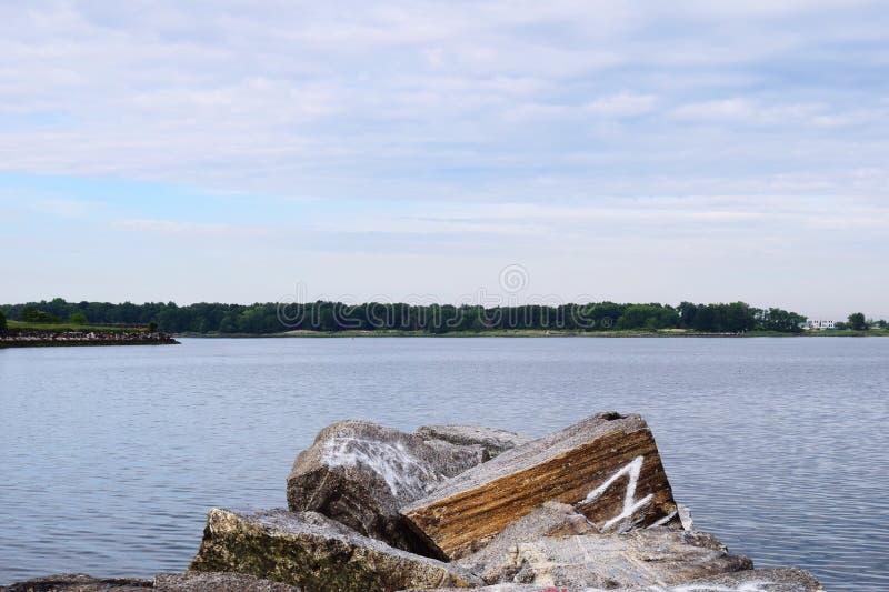 Rocky Lake royalty free stock photography