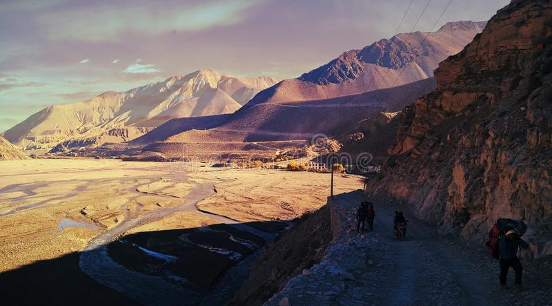 Rocky land NEPAL stock photo