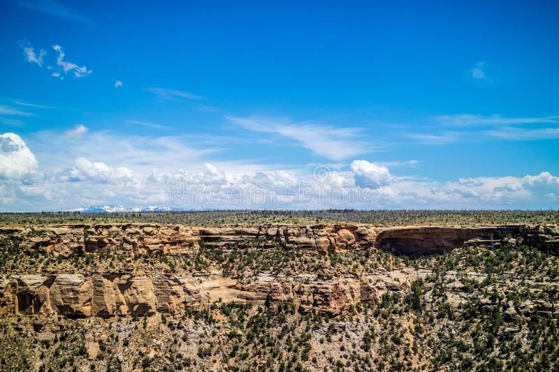 Rocky landscape of the beautiful Mesa Verde National Park, Colorado royalty free stock photo