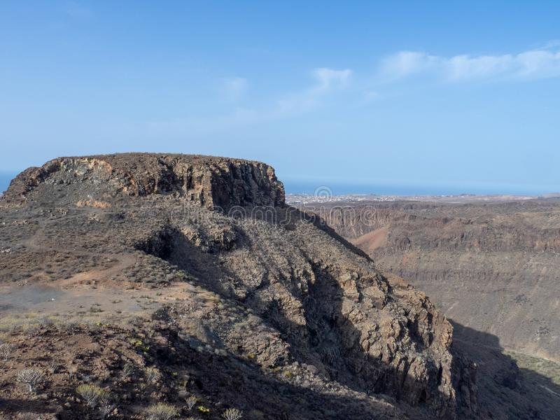 Rocky landscape in Gran Canaria, Canary island. Rocky landscape on the road between Arteara and Roque Nublo, Gran Canaria island, Spain. Gran Canaria is the stock image