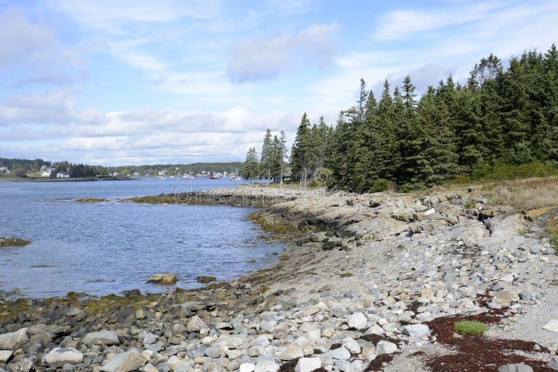Rocky Maine coast stock image